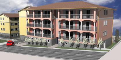Upcoming building in Novazzano