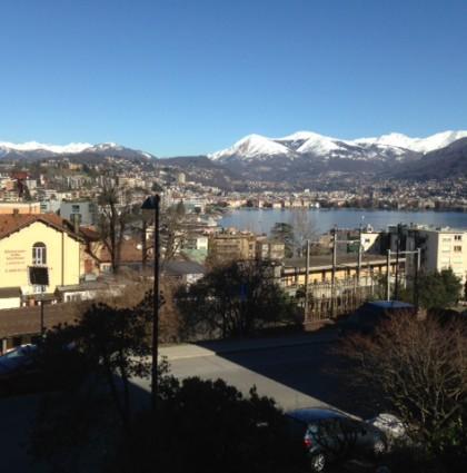 Appartamento a Paradiso con vista sul lago e montagne