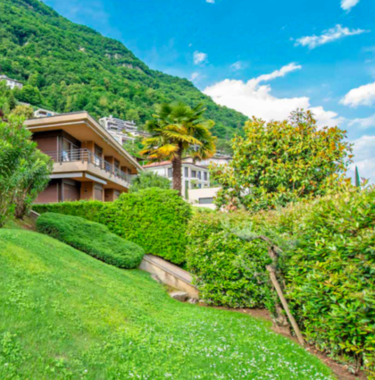 Appartamento con giardino privato e bellissima vista a Castagnola